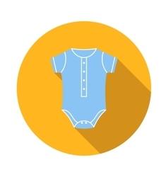 Blue baby bodysuit icon flat style vector image