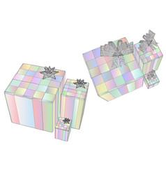 box christmas present vector image