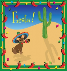 Chihuahua Mexican fiesta party vector image vector image