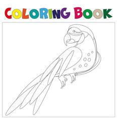 coloring pages parrot vector image