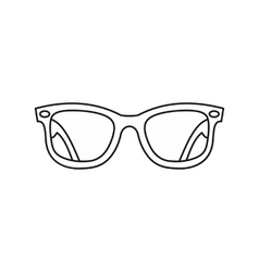 Eyeglasses icon outline style vector