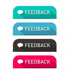 Feedback Icons Set vector image