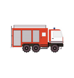 Firetruck for game ui app on a white background vector