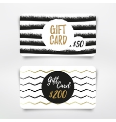 Gift card vector