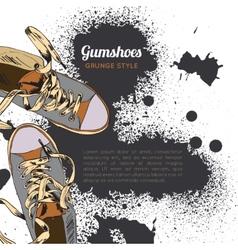 Gumshoes sketch grunge vector image vector image