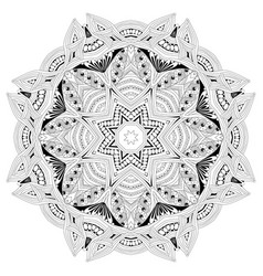 hand drawn zentangle mandala for coloring page vector image vector image