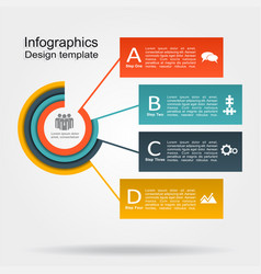 infographic design template with place for your vector image vector image