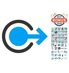 Logout icon with 2017 year bonus symbols vector