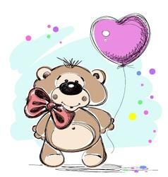 Nice little bear with a balloon vector image