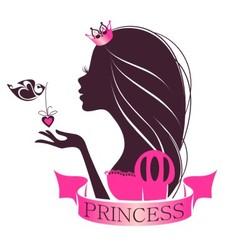 Portrait of a Princess vector image vector image