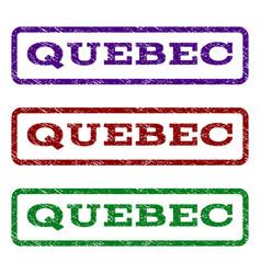 Quebec watermark stamp vector