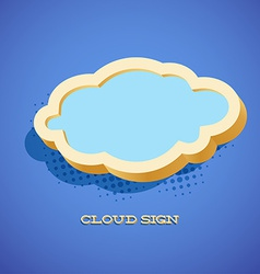 Retro card with cloud sign vector image vector image