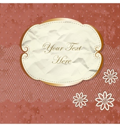 Romantic lacy border with flowers vector image vector image