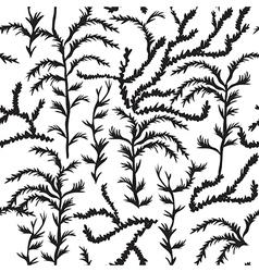 Sea weed pattern algae seamless texture endless vector