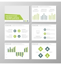 Set of green and blue template for multipurpose vector