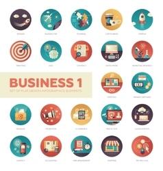 Set of modern flat design business infographics vector image vector image