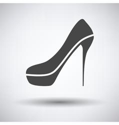 Sexy high heel shoe icon vector image