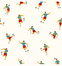 Soccer players seamless pattern vector