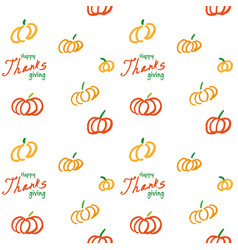 Thanksgiving ink seamless background vector