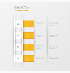 Timeline design design yellow color vector