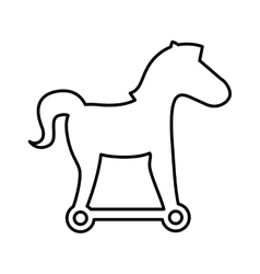 Trojan horse silhouette isolated icon vector