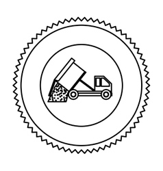 Truck of under construction design vector image vector image