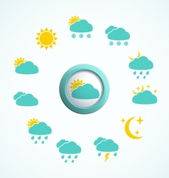 Weather Design Elements vector image