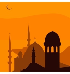 Animated magic turkish city istanbul ramadan vector