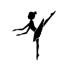 silhouette dancer pose fifth arabesque vector image