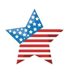 star with usa flag icon vector image