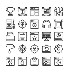 Web design and development colored icons 6 vector