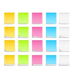 Colored sticky notes vector