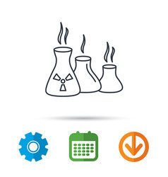 Industry building icon manufacturing sign vector