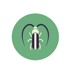 Stylish icon in color circle beetle barbel vector