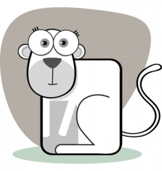 square animal monkey vector image