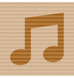 Music note flat modern web button and space for vector