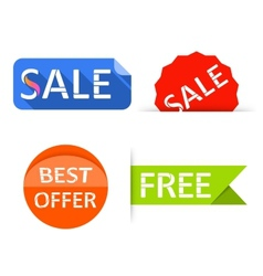 Sale labels stickers shopping tags banners vector