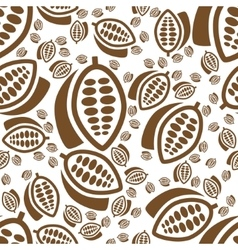 Cocoa seamless pattern vector