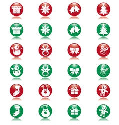 xmas ball icons vector image