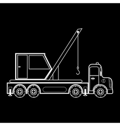 Crane on the automotive platform special machine vector