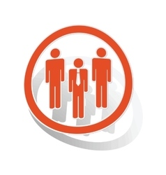 Work group sign sticker orange vector