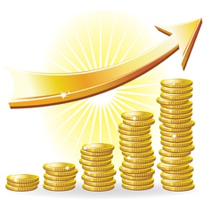 Financial success concept vector
