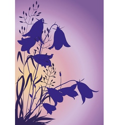 Flowers at dawn vector