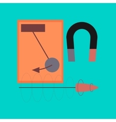 Flat icon on stylish background physics lesson vector