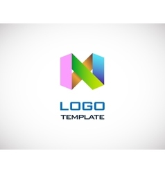 abstract colorull origami logo template vector image vector image