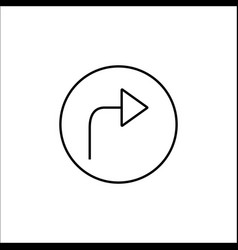 arrow forward line icon mobile sign and next vector image