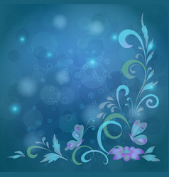 Background butterflies and flowers vector