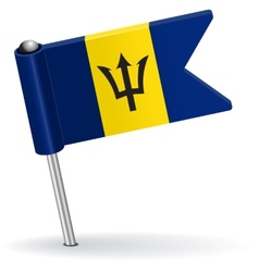 Barbados pin icon flag vector