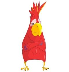 Cartoon character parrot vector