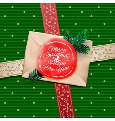 Christmas Greeting Card Merry Christmas gift box vector image